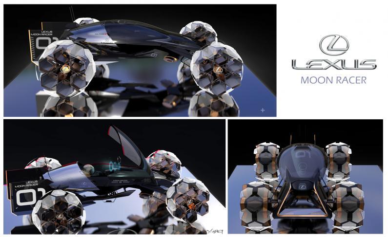 Lexus radījis ideju sēriju ar Mēness transportlīdzekļiem