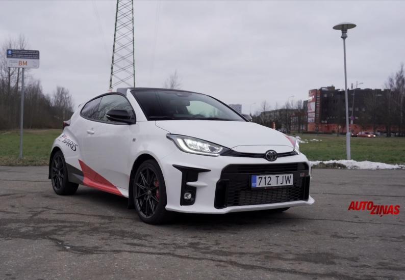 Toyota Yaris GR testa brauciens